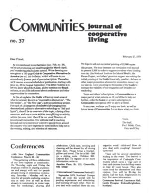 Communities Communities Magazine #37/38