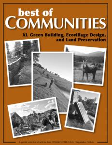 Green Building, Ecovillage Design, and Land Preservation