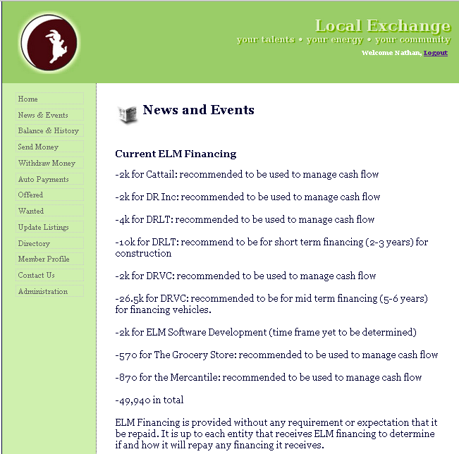 ELM Financing As Of June 14, 2014