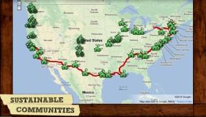 Map of Community Tour