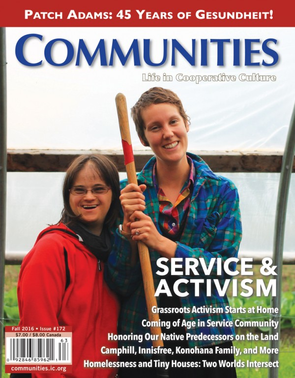 Service & Activism - Communities Magazine Cover - Summer #171