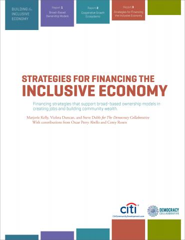 Strategies for Financing the Inclusive Economy