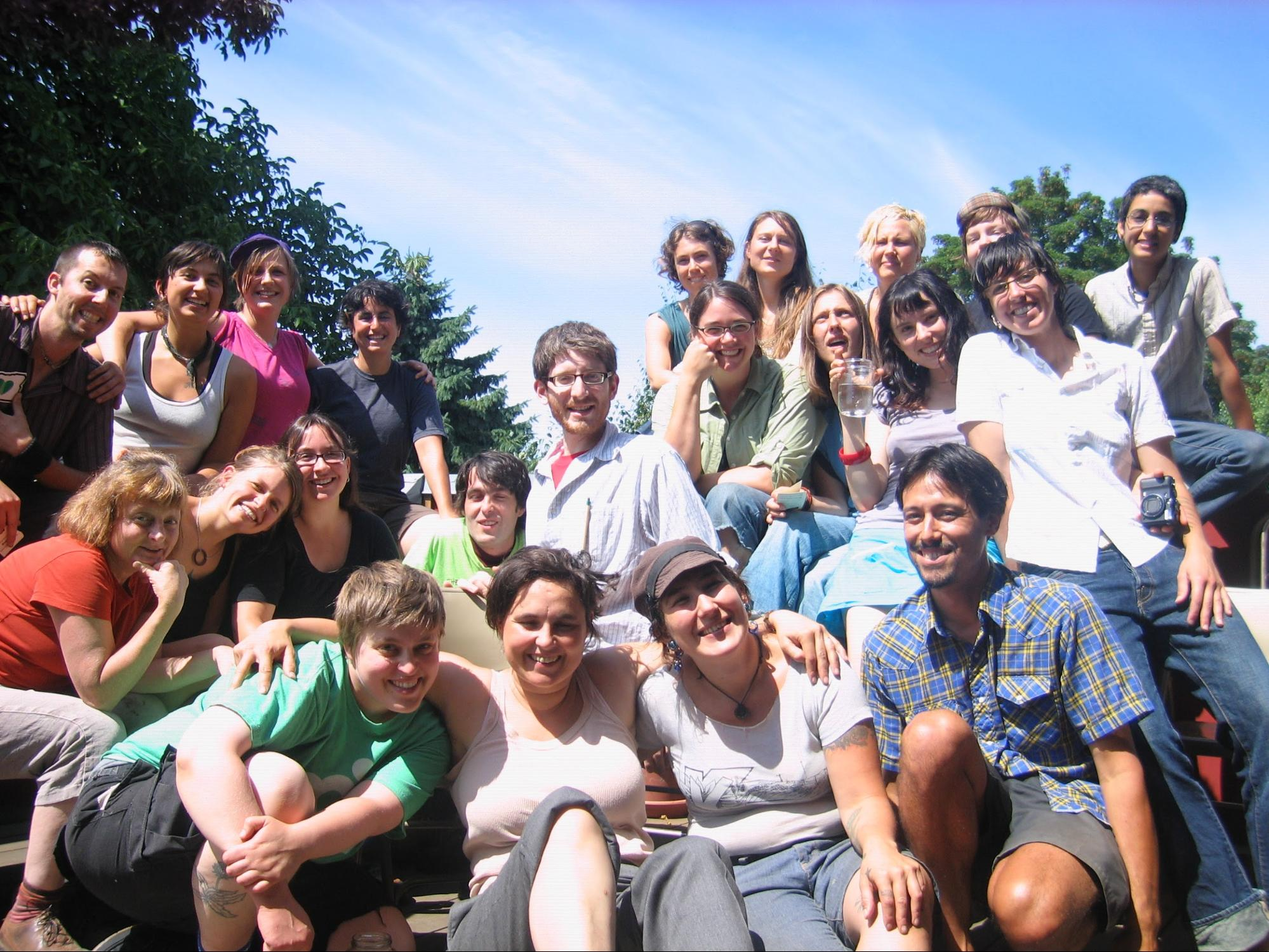 group photo intentional community