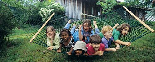 Kids in Twin Oaks Hammock