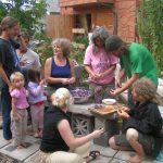 Group preparing food
